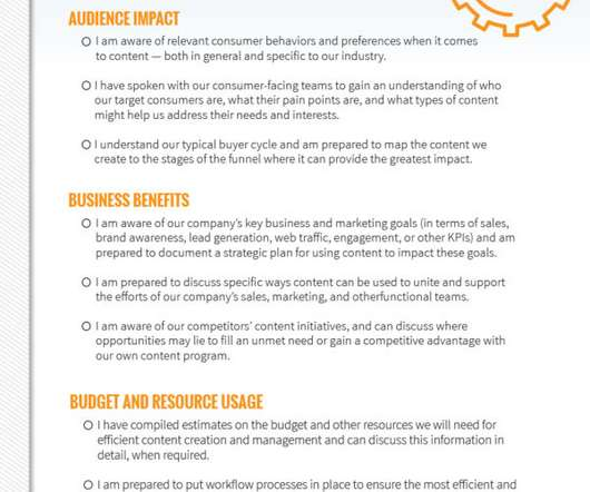 Persona And Template BB Marketing Zone - Content creation template